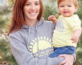 Mommy & Me Hoodie/Baby Bodysuit Set: You Are My Sunshine -