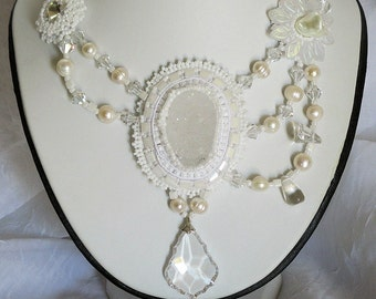 A Touch of Elegance Bead Embroidery Necklace