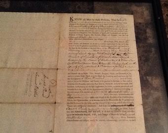 Samuel wallis land deed with signature