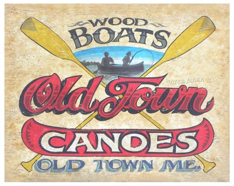 Old Town Canoe  Boating  Print