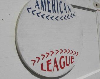 Custom-Personalized Baseball Sign,  wooden wall hanging C SB AL2