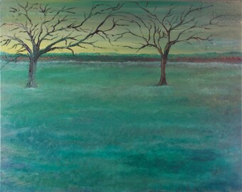 A Peace of November    Original Oil Landscape Painting