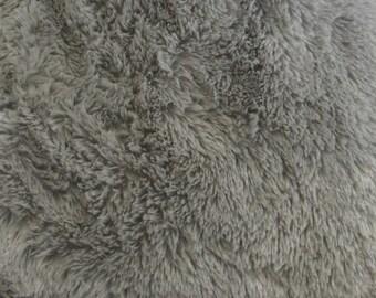 Gray Minky Mini Shaggy 54 Inch Wide Fabric by the Yard, 1 yard