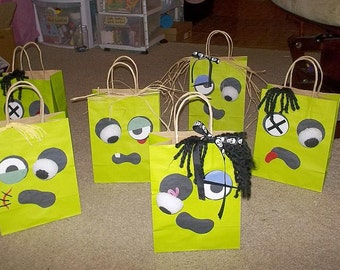Zombie Favor Bags for Boys and Girls