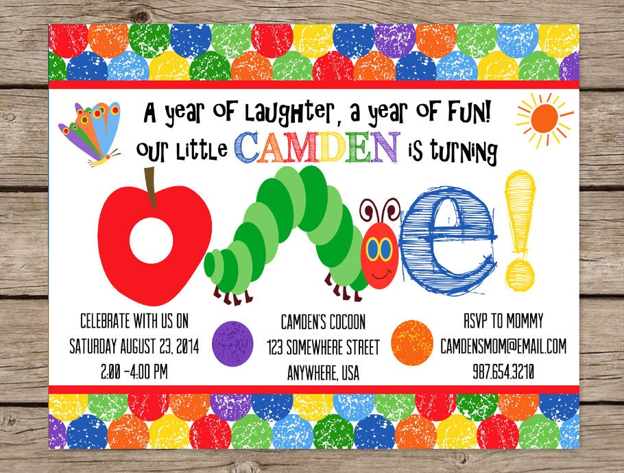 Very Hungry Caterpillar Invite First on The Very Hungry Caterpillar Theme Activities