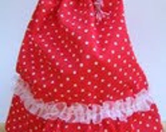 100% Handmade Flamenco inspired Draw String Bag.For Your cosmetics and More