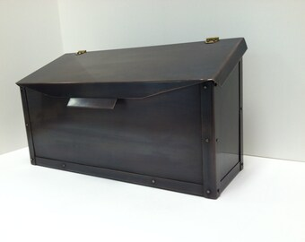 Copper Flush Mount Mailbox with Bronze Patina
