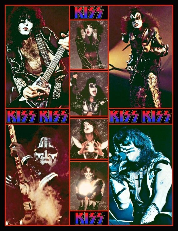KISS Destroyer Army Kit / Rock And Roll Over Photo Set Stand-Up Display - KISS Band Vintage Collectibles Memorabilia Gift Idea Pintrest