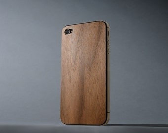 Walnut iPhone 4/4s Real Wood Skin - Made in the USA - FREE Shipping