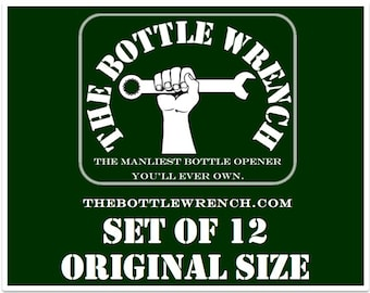 SET OF 12 - The Bottle Wrench Bottle Opener - Original - Your Choice of Cord Colors