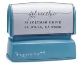 Cursive Script Return Address Stamp - Custom Self Inking Stamp - Housewarming Gift - Family Holiday Stamp