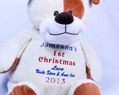 personalized stuffed animal - embroidery stuffed animal Baby
