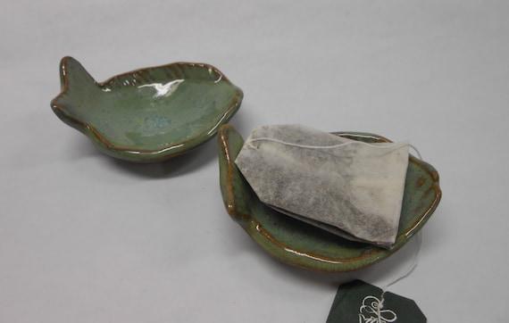 Fish ring dish tea bag holder tea bag rest ceramic ring for Fish tea bags