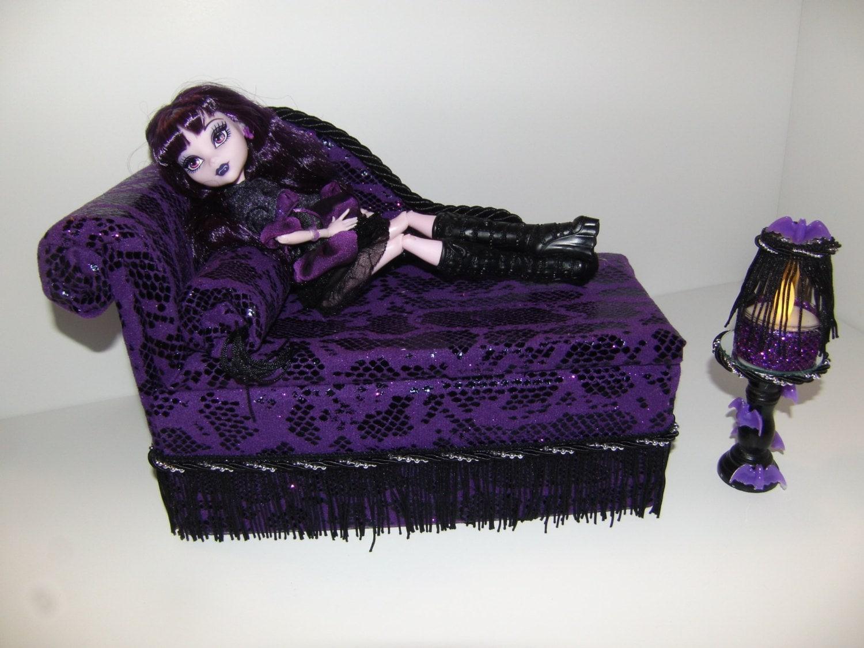 Furniture for monster high dolls handmade chaise lounge bed - Camas monster high ...