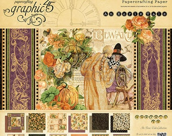 """Graphic 45  """"An Eerie Tale""""  12 x 12 Paper Cardstock Collection"""