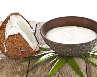 Body Butter COCONUT MILK Whipped Cream Body Luxury Body Butter Tropical Coconut Buter Handmade Chemical Free 4oz Body Butter 8oz Body Butter