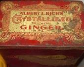 Antique Large Red Tin / Ginger Tin