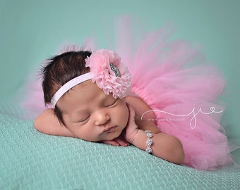 Pink tutu set, Baby pink tutu, Baby tutu, pink tutu, birthday tutu set, tutu, birthday tutu, pink tutu, pink headband, photo prop, Baby,