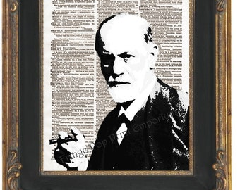 Sigmund Freud Art Print 8 x 10 Dictionary Page - Pop Art Psychiatry Psychology Psychoanalyst
