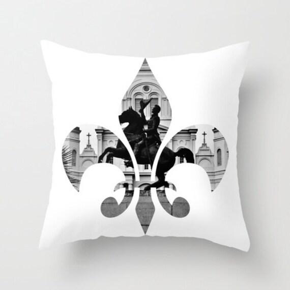 New Orleans Fleur De Lis Pillow Home Decor Cushion Fine Art