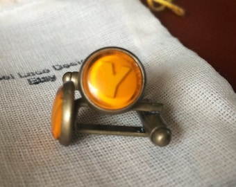 Xbox Button cuff links Yellow Y button handmade handcrafted xbox 360 video games ear ring studs call of duty cufflinks