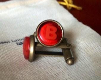 Xbox groomsmen gift Cufflinks cuff links Red B button xbox one 360 controller geek video games ear ring studs call of duty gears of war