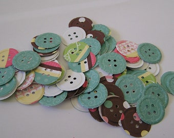 Buttons paper punches perfect for crafts