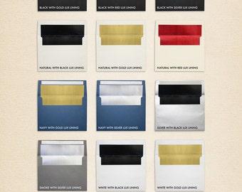 A2 Foil Lined Envelopes w/Peel & Press (4 3/8 x 5 3/4) - Foil Line Collection (50 Qty.)