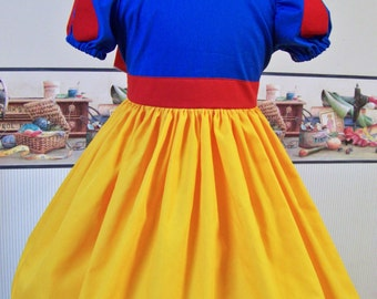 Snow White Inspired Dress, Snow White Costume Dress, Coplay, Pretend, Dress-up,  Custom Children, Disney Vacation, Princess Dress, Birthday