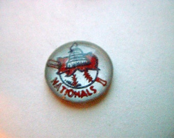 Rare Washington Senators/Nationals Baseball Vintage Glass Intaglio  # HHH