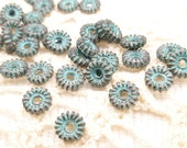 6mm Grover Daisy Spacer Beads, Rustic, Patina Beads, Mykonos Casting Beads (10) - M32 - X4068