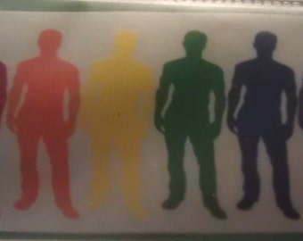 Male Gay Pride Auto Decal