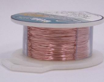 26GA Beadsmith Rose Gold Color Non Tarnish  Wire 15 Yards