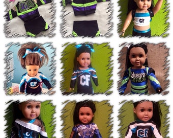 Cheer Force Baton Rouge, Bluegrass Cheercats, Cheer Extreme, Tiger Elite, Crescent City Dynasty  Doll Cheer Uniform
