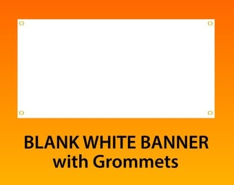 """4'x10' (48""""x120"""") Blank Vinyl Banner with Grommets"""