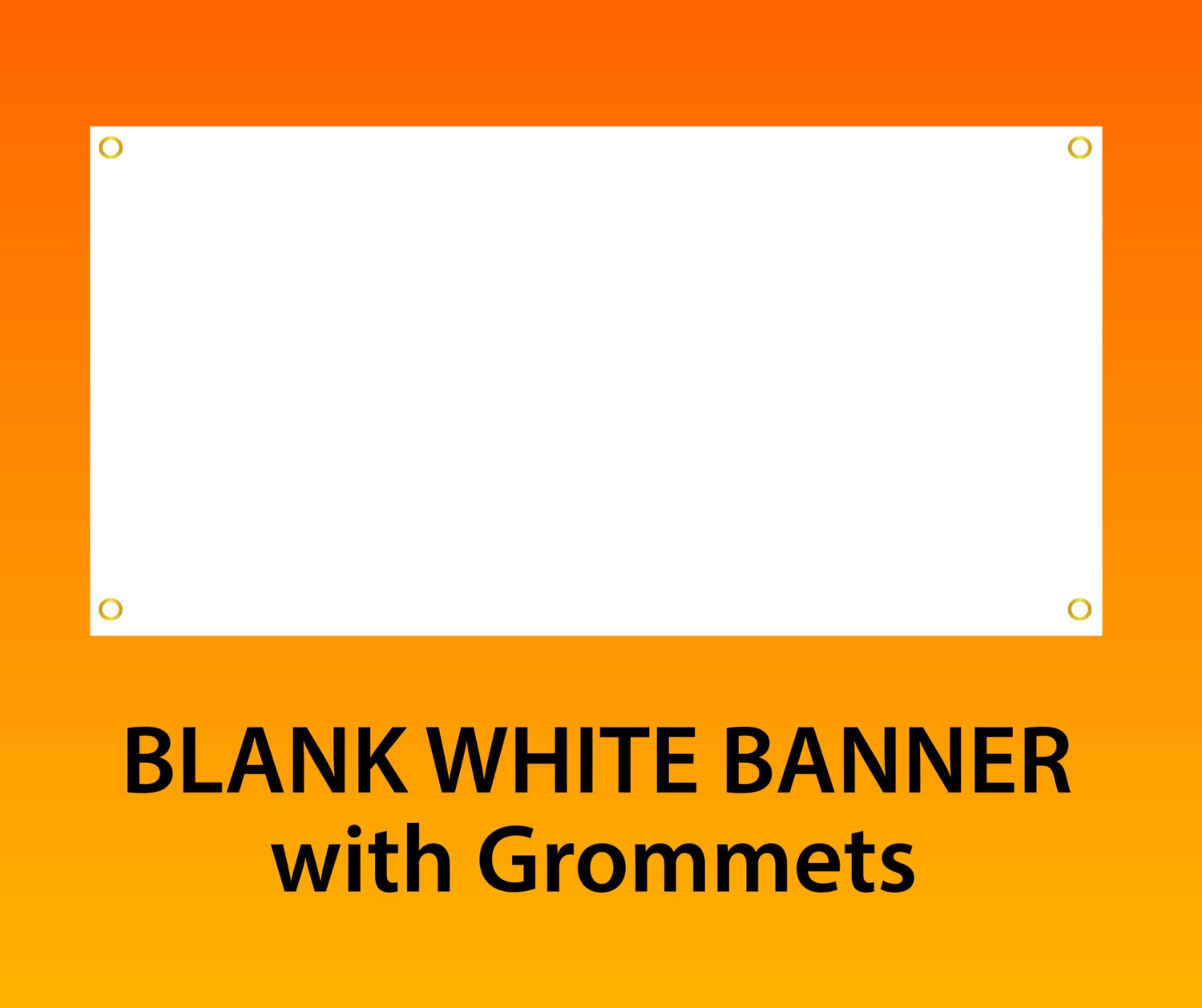 X X Blank Vinyl Banner With - Vinyl banners with grommets
