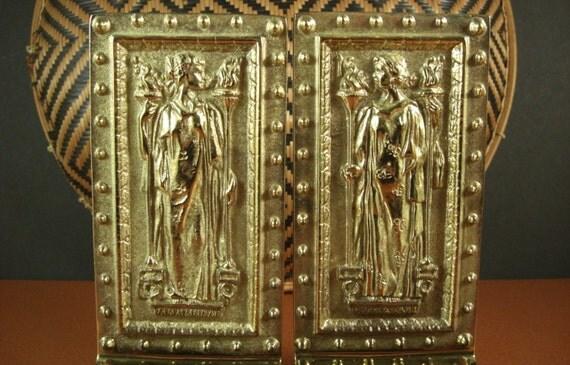 Brass Library Of Congress Doors Bookends Humanitas