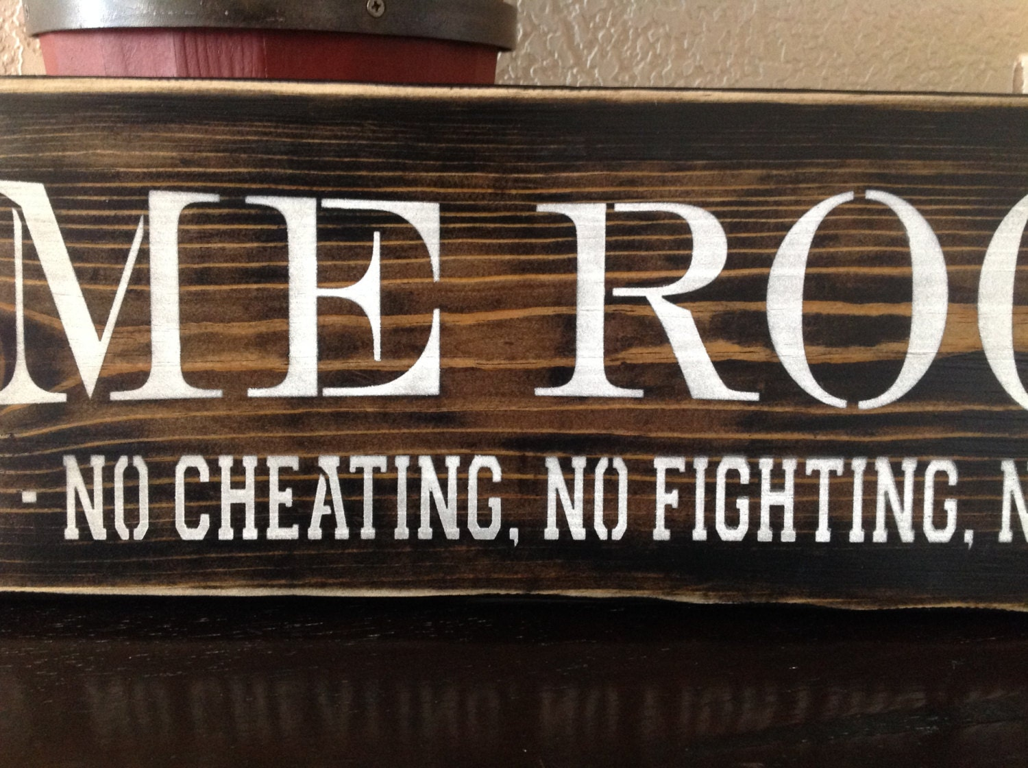 Game Room Wall Decor Game Room Wood Primitive Sign Pool Room Poker Cards Home