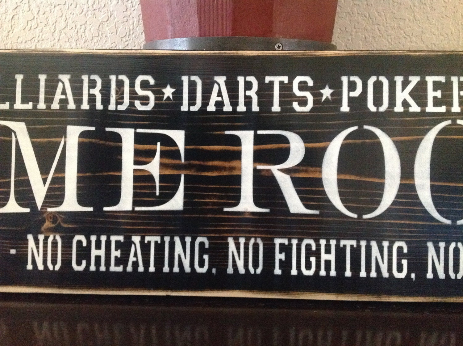 Game Room Billiards Darts Poker House Rules No Cheating