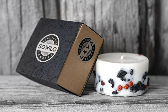 Genuine Icelandic Soy Wax Candle. Rowan berries and 2000 years old Lava stones. Apple/cinnamon scent. Use coupon code FREESHIPPING.