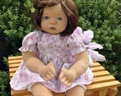 "SALE! Fretta's 16"" OOAK Cloth over Clay Little Girl Doll with Soft Sculptured body."