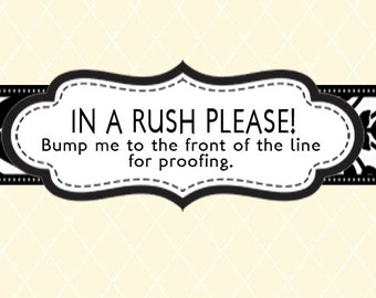 RUSH CHARGES - Bump Me to the Front!