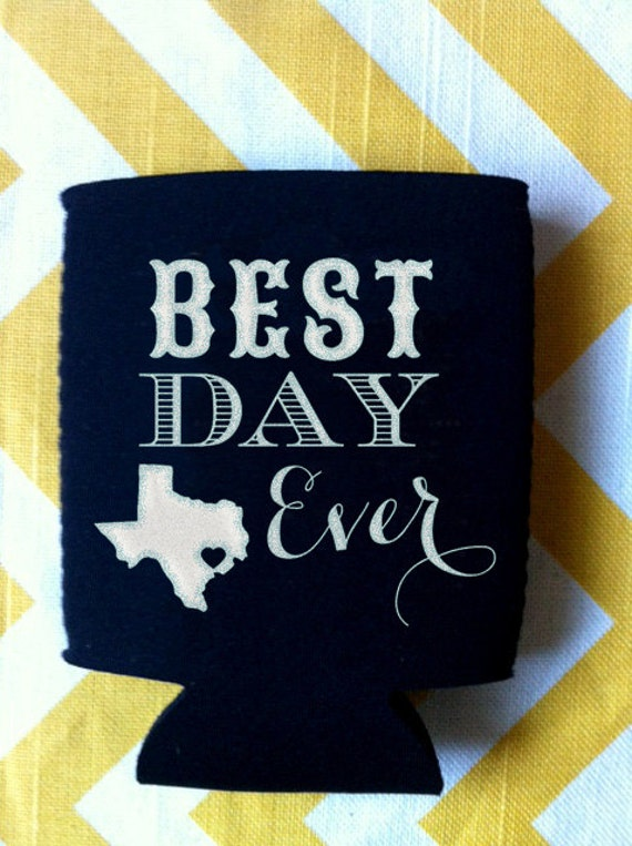 Best Day Ever State Wedding Koozies 250 Quantity