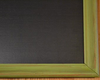 "Chalkboard Blackboard Message Board Upcycled Wood Frame Green 18"" x 14""  Littlestsister"