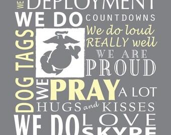 We Do MILITARY Family, custom canvas, Family rules, Marines, Air Force, Army, Navy, Coast Guard wall art