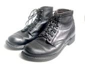 size 8.5  CAROLINA work boots  black leather with oil resistant soles women