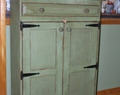 Christmas in July 10% off Cabinet, Shabby, Chic, Media Storage, Book Case, Pantry, Primitive, Rustic