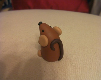 cute Rat -  made from Polymer Clay (fimo)
