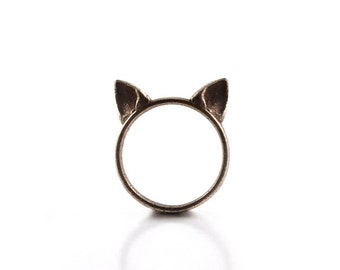 Cat Ears Ring in steel - A steel cat ears ring to adorn your hands