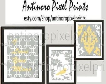 "Unframed ""I love you more"" Custom Initial Art Print - set of (3) Prints (2) 8x10 (1) 11x14 Unframed."